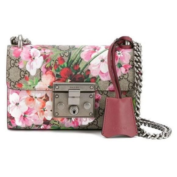 5d612a65 Gucci Handbags - Gucci Padlock Blooms Shoulder Bag, Multi Rose